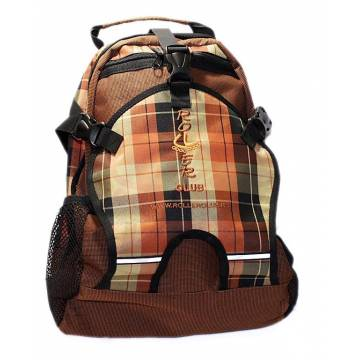 Рюкзак для роликов Rollerclub маленький шотланка оранжевая