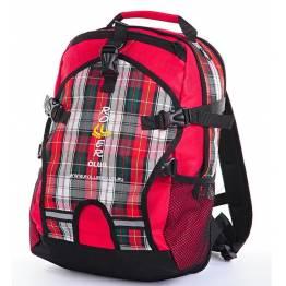 Рюкзак для роликов Rollerclub Большой шотландка Красная
