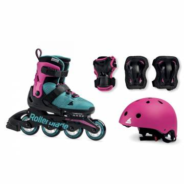 Rollerblade CUBE G pink/emerald green 2020