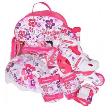 Tempish FLOWER BABY SKATE комплект с защитой, шлемом и сумкой