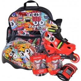 Tempish MONSTER BABY SKATE комплект с защитой, шлемом и сумкой