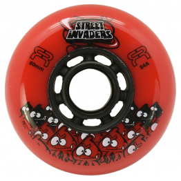 FR STREET INVADERS RED 80MM / 84А (4 штуки)